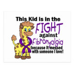 Kid In The Fight Against Fibromyalgia Postcard