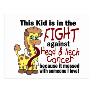 Kid In The Fight Against Head And Neck Cancer Postcard