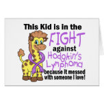 Kid In The Fight Against Hodgkins Lymphoma Greeting Card