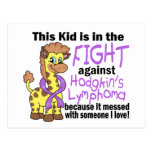 Kid In The Fight Against Hodgkins Lymphoma Postcard