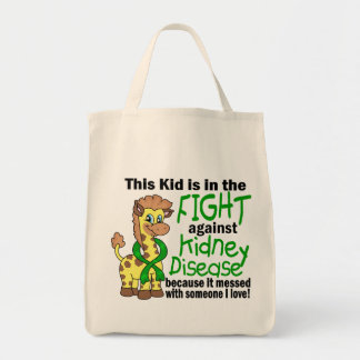 Kid In The Fight Against Kidney Disease Canvas Bag
