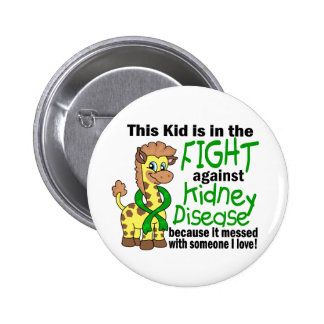 Kid In The Fight Against Kidney Disease Pinback Buttons