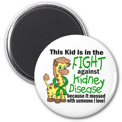 Kid In The Fight Against Kidney Disease 2 Inch Round Magnet