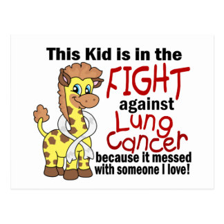 Kid In The Fight Against Lung Cancer Postcard