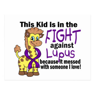 Kid In The Fight Against Lupus Postcard