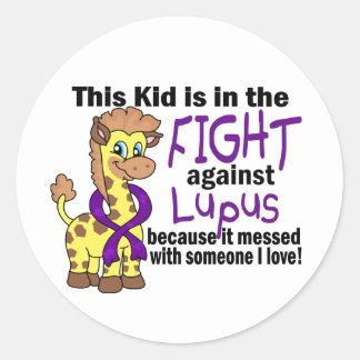 Kid In The Fight Against Lupus Round Sticker