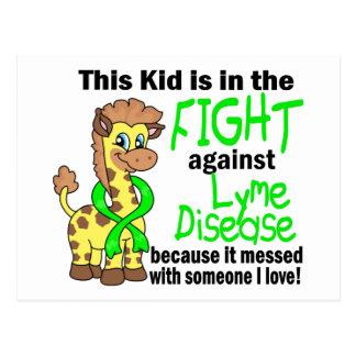 Kid In The Fight Against Lyme Disease Postcard