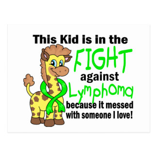 Kid In The Fight Against Lymphoma Postcard