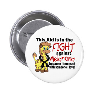 Kid In The Fight Against Melanoma Pinback Button