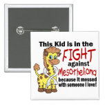 Kid In The Fight Against Mesothelioma 2 Inch Square Button