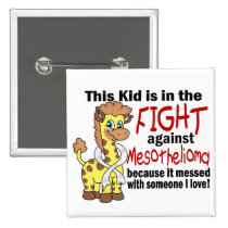 Kid In The Fight Against Mesothelioma Button