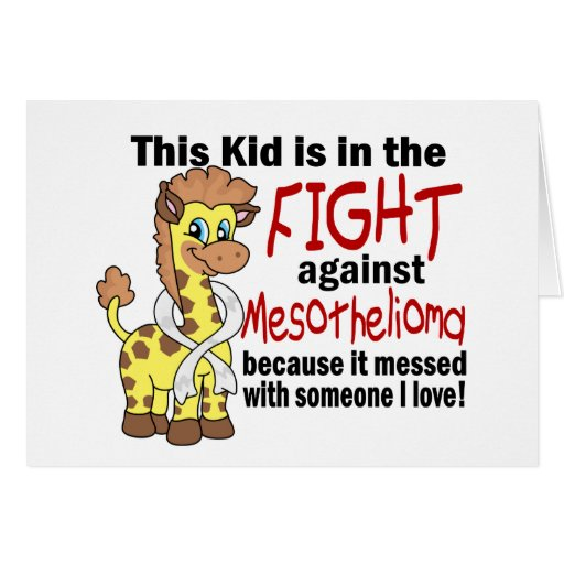 Kid In The Fight Against Mesothelioma Cards