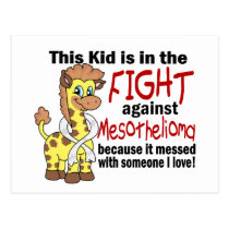 Kid In The Fight Against Mesothelioma Postcard