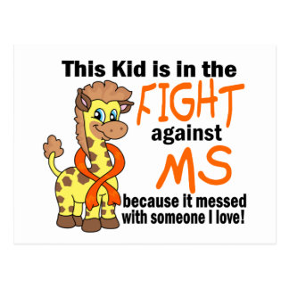 Kid In The Fight Against MS Multiple Sclerosis Postcard