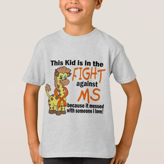Kid In The Fight Against MS Multiple Sclerosis T-Shirt