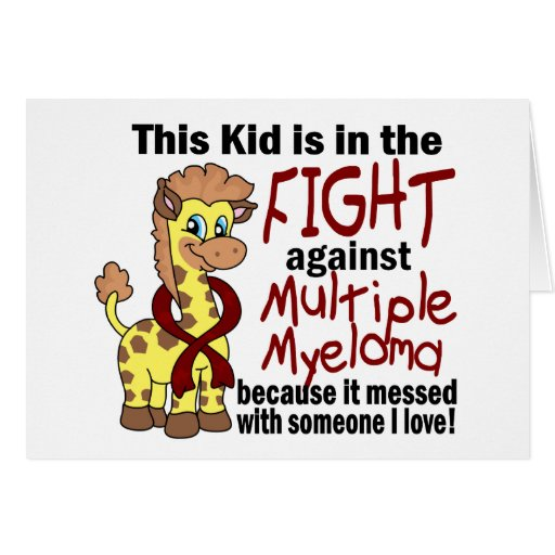 Kid In The Fight Against Multiple Myeloma Greeting Card