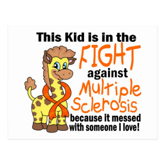 Kid In The Fight Against Multiple Sclerosis Postcard