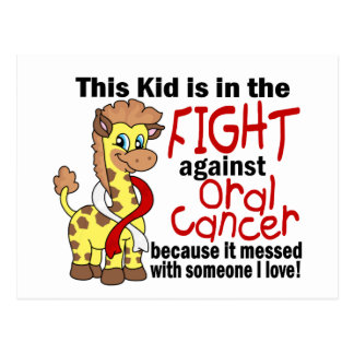 Kid In The Fight Against Oral Cancer Postcard