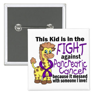 Kid In The Fight Against Pancreatic Cancer Buttons