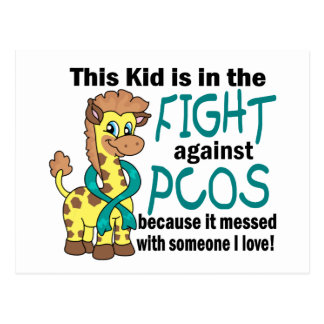 Kid In The Fight Against PCOS Postcard