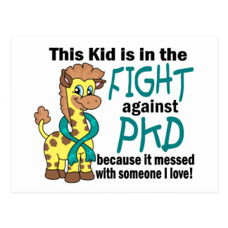 Kid In The Fight Against PKD Postcard