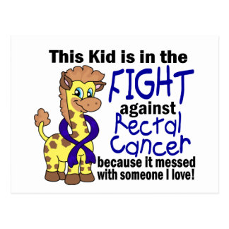 Kid In The Fight Against Rectal Cancer Postcard