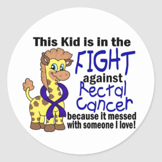 Kid In The Fight Against Rectal Cancer Classic Round Sticker