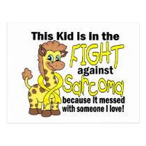 Kid In The Fight Against Sarcoma Postcard