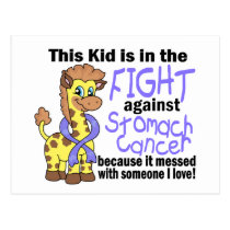 Kid In The Fight Against Stomach Cancer Postcard