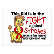 Kid In The Fight Against Strokes Postcard