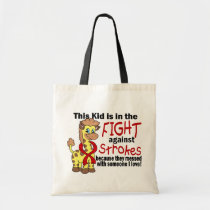 Kid In The Fight Against Strokes Tote Bag