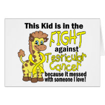 Kid In The Fight Against Testicular Cancer Card