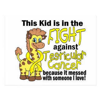 Kid In The Fight Against Testicular Cancer Postcard