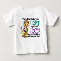 Kid In The Fight Against Thyroid Cancer Baby T-Shirt