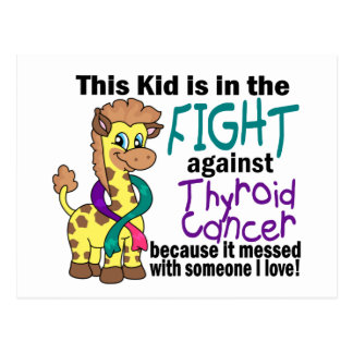 Kid In The Fight Against Thyroid Cancer Postcard