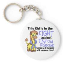 Kid In The Fight Against Thyroid Disease Keychain