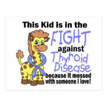 Kid In The Fight Against Thyroid Disease Postcard