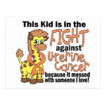 Kid In The Fight Against Uterine Cancer Post Card