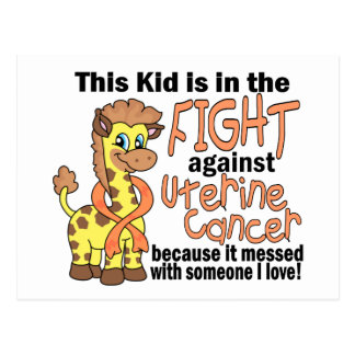 Kid In The Fight Against Uterine Cancer Postcard