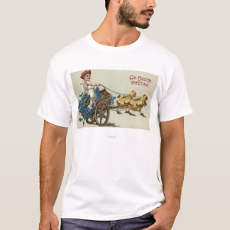 Kid in Toga on Chariot Pulled by Chicks T-Shirt