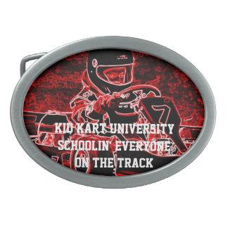 Kid Kart University Oval Belt Buckles