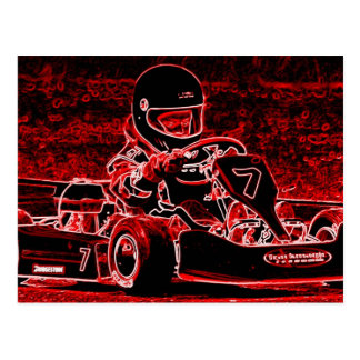 Kid Karts are RED Hot Post Cards