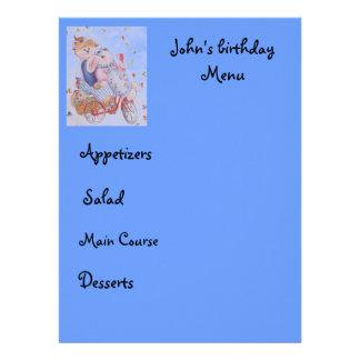 kid menu custom invites