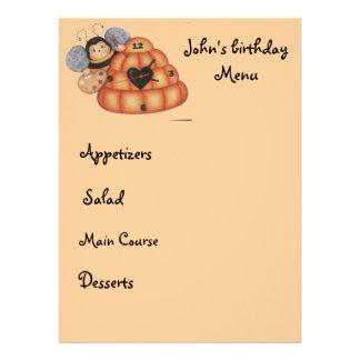 kid menu custom invite