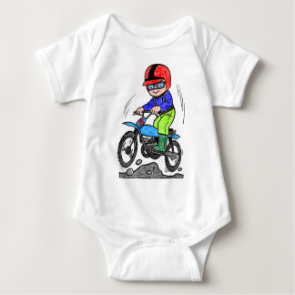 Kid on bike baby bodysuit