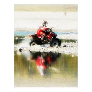 Kid on Quad Card - 4 wheeled offroad ATV