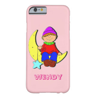 Kid on the moon Iphone pink case. Barely There iPhone 6 Case