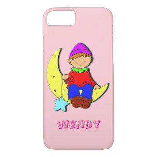 Kid on the moon Iphone pink case. iPhone 8/7 Case
