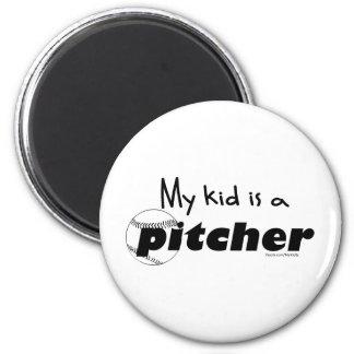 Kid Pitcher 2 Inch Round Magnet
