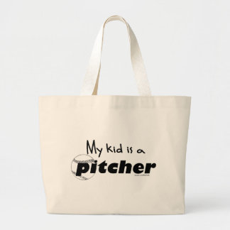 Kid Pitcher Large Tote Bag